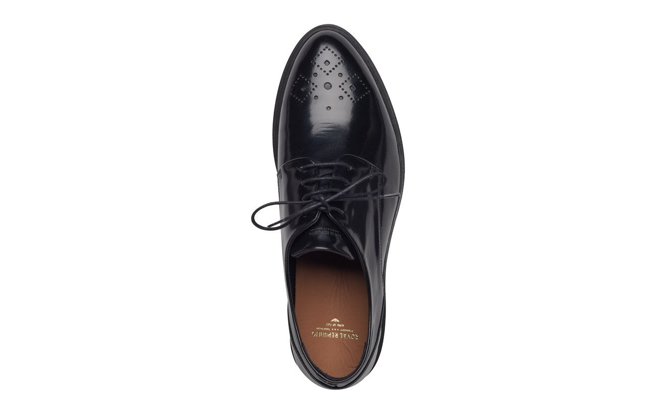 Royal RepubliQ Men's Border Dandy Brogue Shoe Black - CIRCA75 MENSWEAR