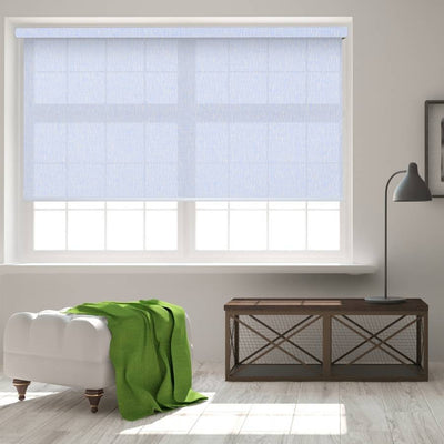 B-SX01 Blue Saxon Classic Light Filtering Roller Shades Blinds