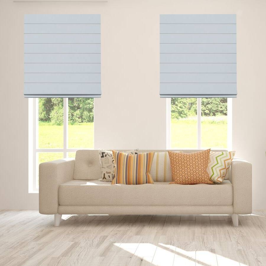 B-BJ07 Pewter Bojan Blackout Roman Shades Blinds