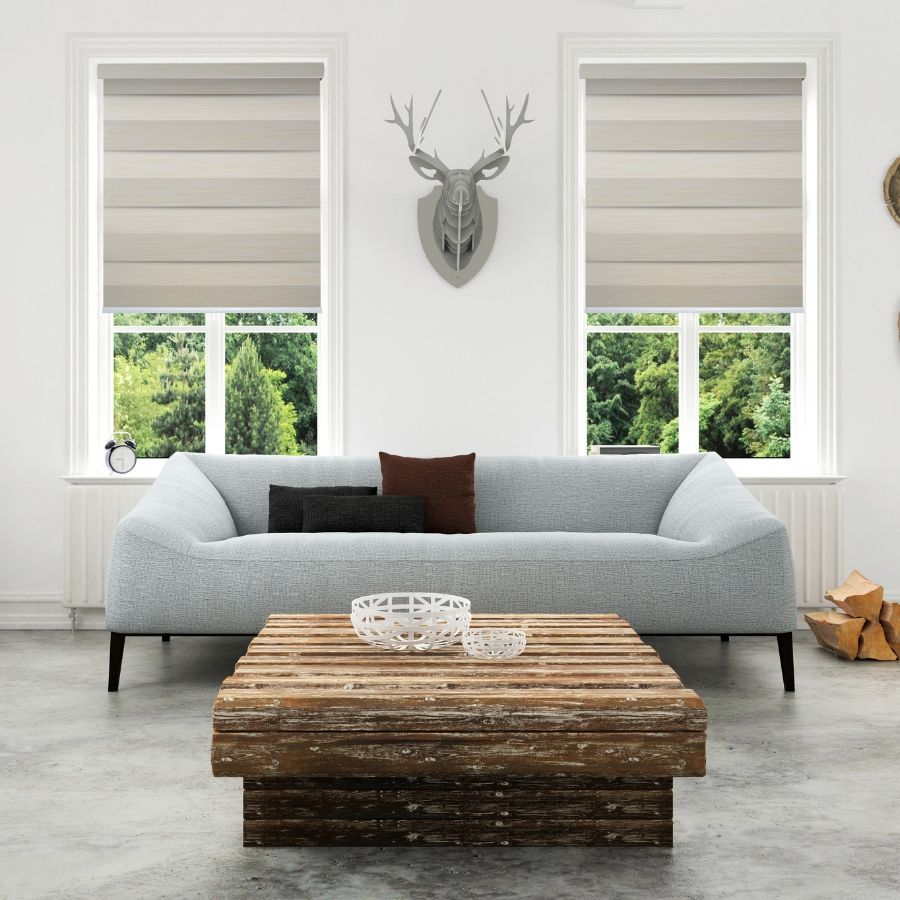 Z-BN04 Yellow Beno Blackout Zebra Shades Blinds