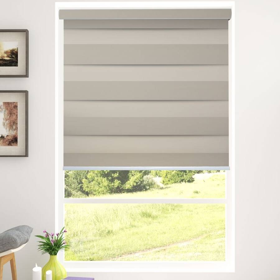 Z-BS2 Gold Basha Designer Blackout Zebra Shades Blinds
