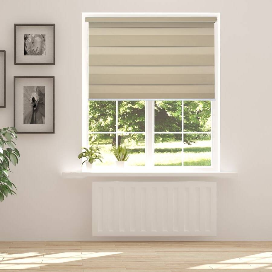 Z-BL02 Gold Bali Classic Blackout Zebra Shades Blinds