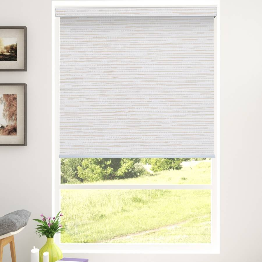 B-SM02 Cream Somas Designer Elements Blackout Roller Blinds