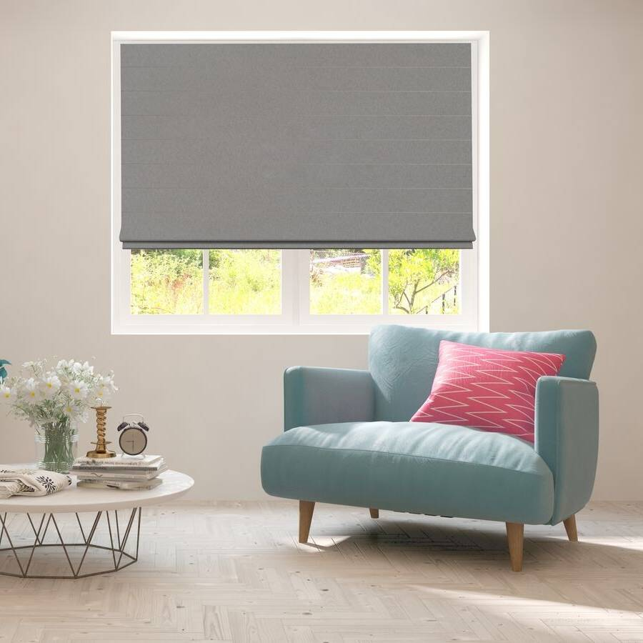 B-CB02 Dark Green Cuba Classic Fabric Roman Shades Blinds