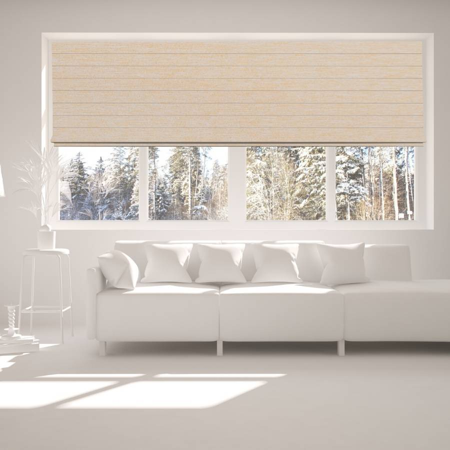 B-CR03 Grey Cara Fabric Roman Shades