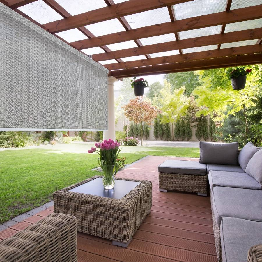 B-VN03 Grey Vina 4% Premium Outdoor Solar Shades