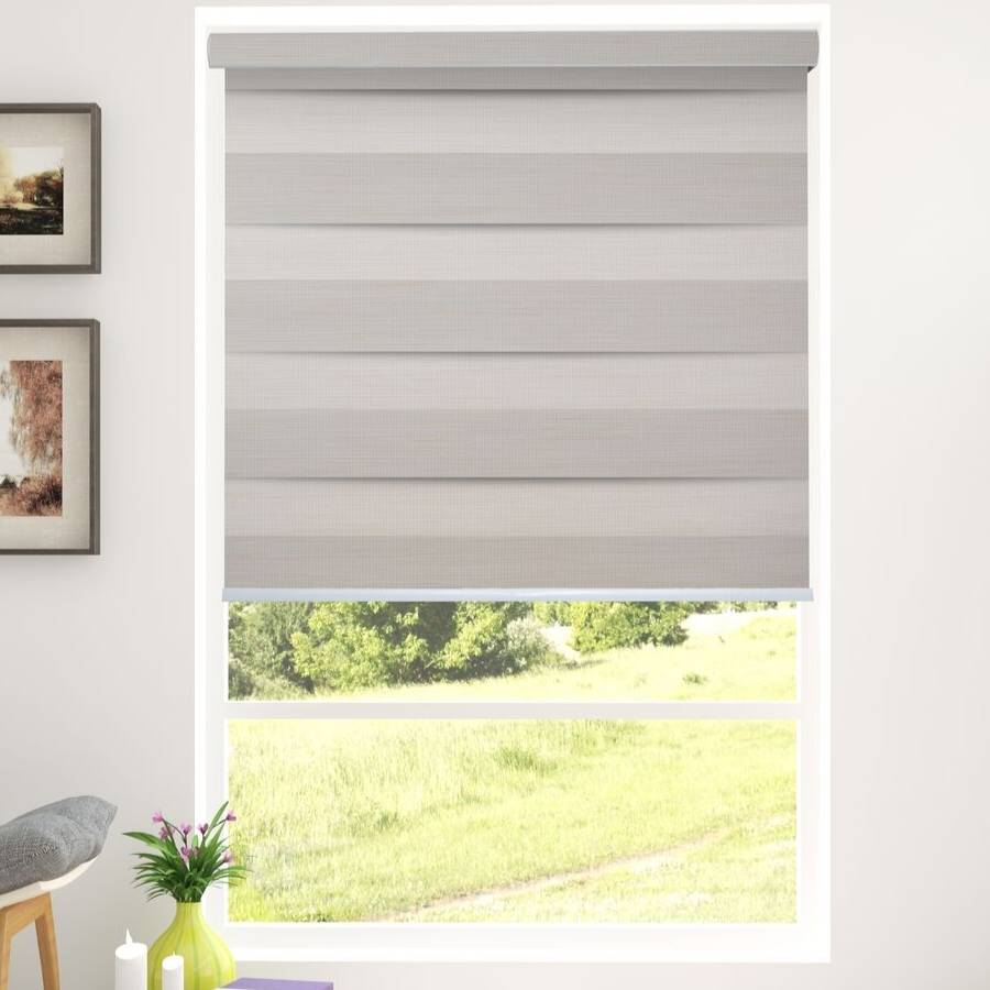 Z-TB01 Beige Tuba Classic Room Darkening Zebra Shades Blinds