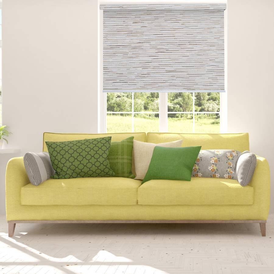 B-SM03 White-Cream Somas Designer Elements Blackout Roller Blinds