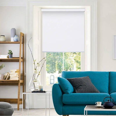 B-BW01 White Blackwell Vinyl Waterproof Blackout Roller Blinds