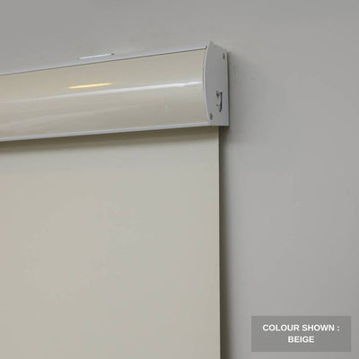 B-BW02 Beige Blackwell Vinyl Waterproof Blackout Roller Blinds