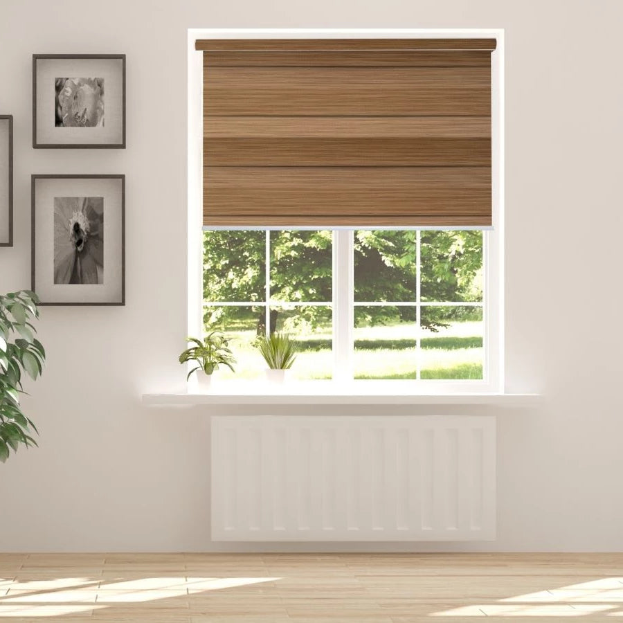 Z-BD03 Brown Bardo Zebra Shades Blinds