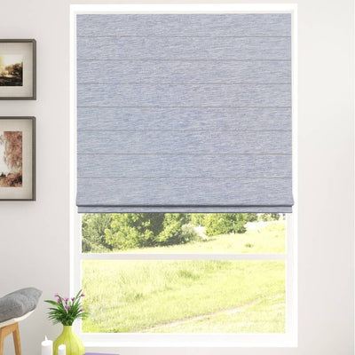 B-CR04 Dark Blue Cara Fabric Roman Shades