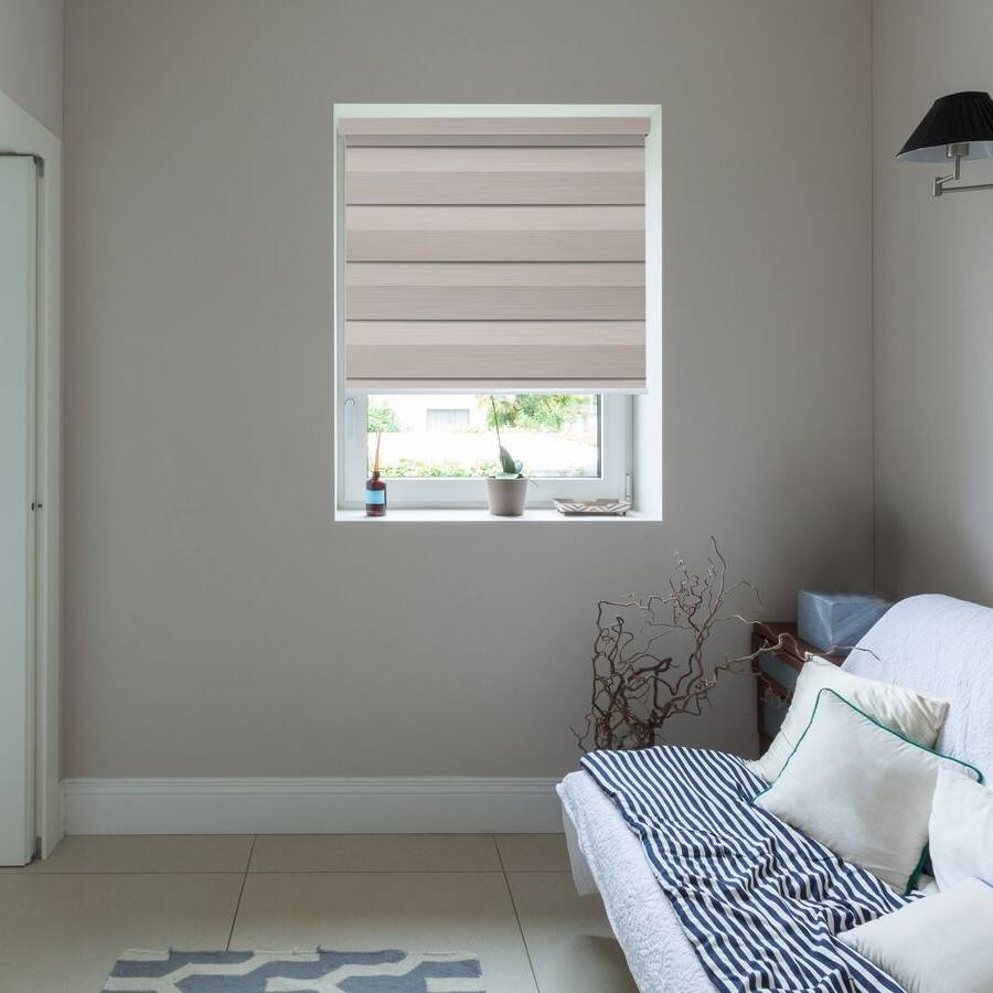 Z-BN06 Pink Beno Blackout Zebra Shades Blinds