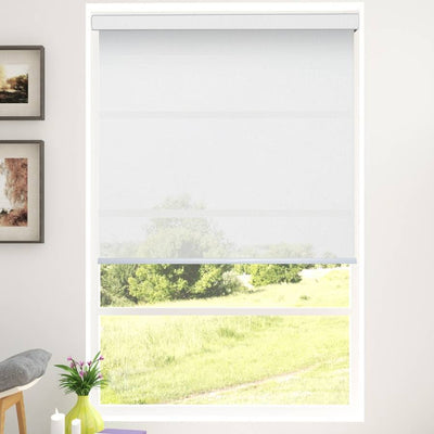 B-SX04 White Saxon Classic Light Filtering Roller Shades Blinds