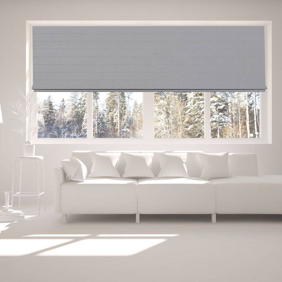 B-BJ06 Grey Bojan Blackout Roman Shades Blinds