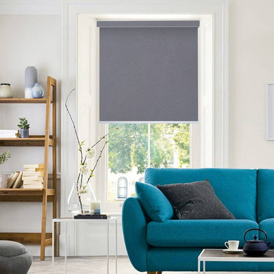 B-CB03 Dark Grey Cuba Classic Fabric Roller Shades Blinds