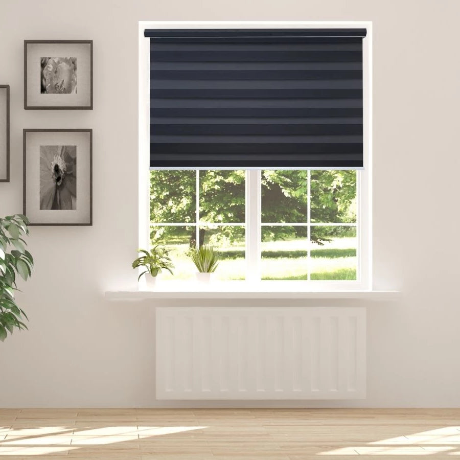 Z-BJ06 Grey Bijou Premium Blackout Zebra Shades Blinds