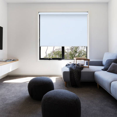 B-BW03 Blue Blackwell Vinyl Waterproof Blackout Roller Blinds