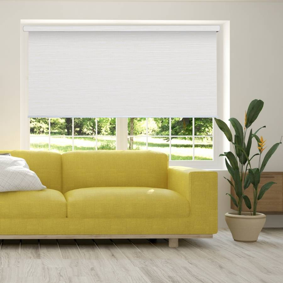 B-BB01 White Bixby Premium Blackout Roller Shades Blinds