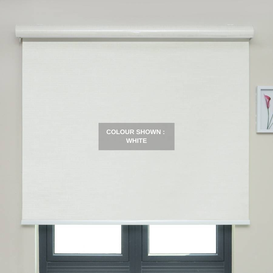 B-BN01 White Boone Blackout Roller Shades Blinds