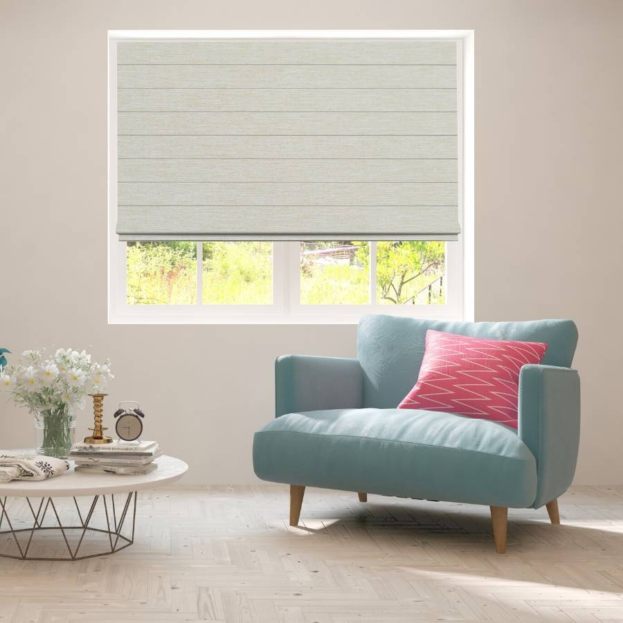 B-CR05 Cream Cara Fabric Roman Shades