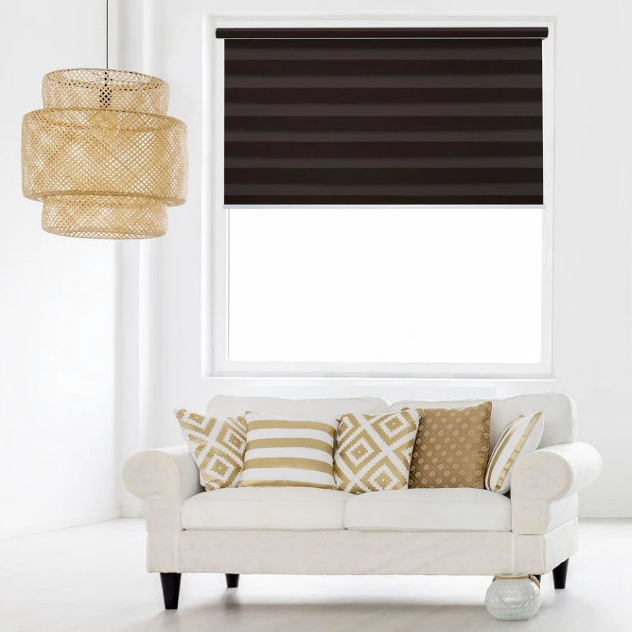 Z-BJ07 Brown Bijou Premium Blackout Zebra Shades Blinds