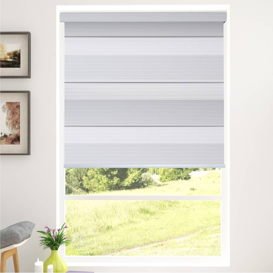 Z-BD01 White Bardo Zebra Shades Blinds
