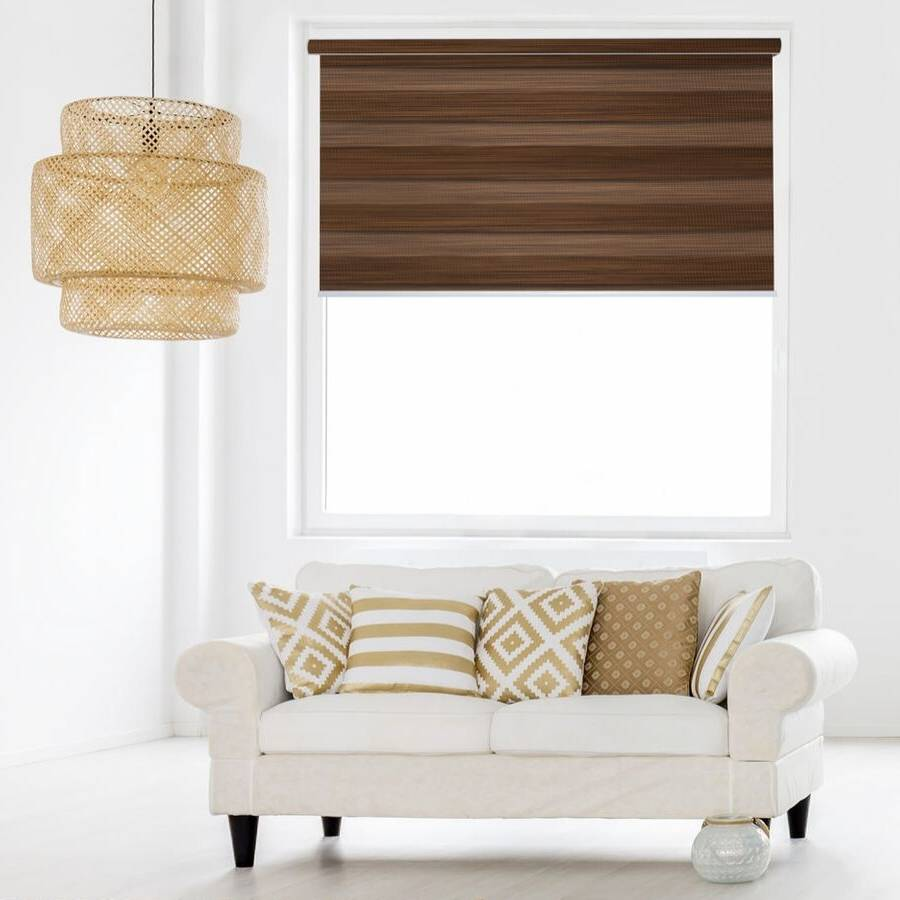 Z-BN08 Wood Beno Blackout Zebra Shades Blinds