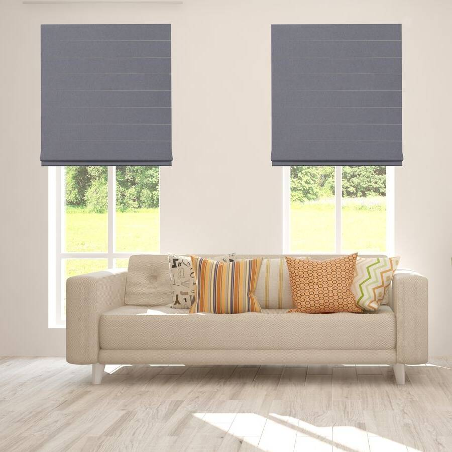 B-CB03 Dark Grey Cuba Classic Fabric Roman Shades Blinds