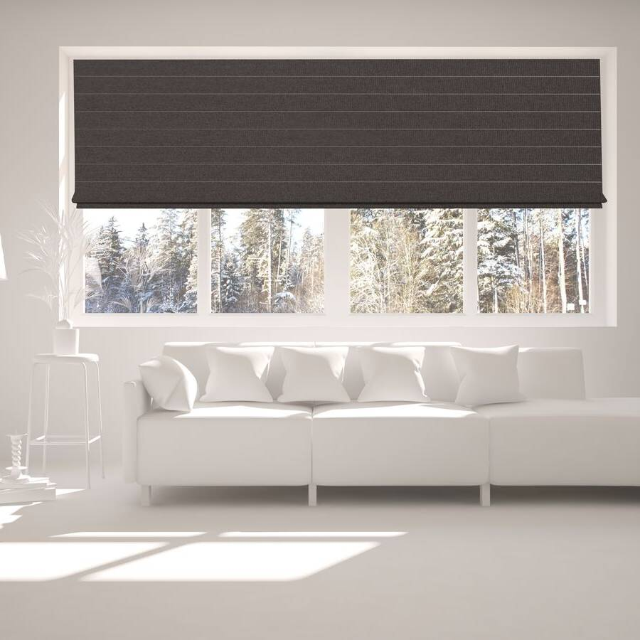 B-BJ08 Brown Bojan Blackout Roman Shades Blinds