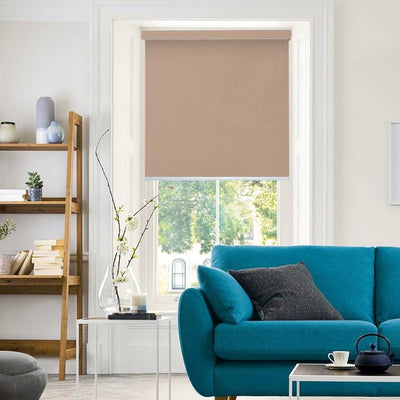 B-CB04 Orange Cuba Classic Fabric Roller Shades Blinds