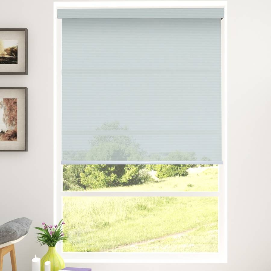 B-SC04 White Sacco Light Filtering Roller Shades Blinds