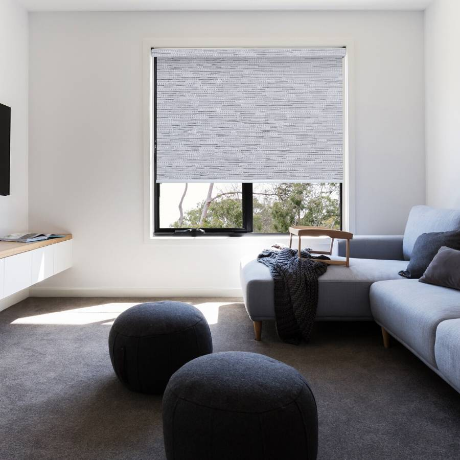 B-SM05 Grey Somas Designer Elements Blackout Roller Blinds