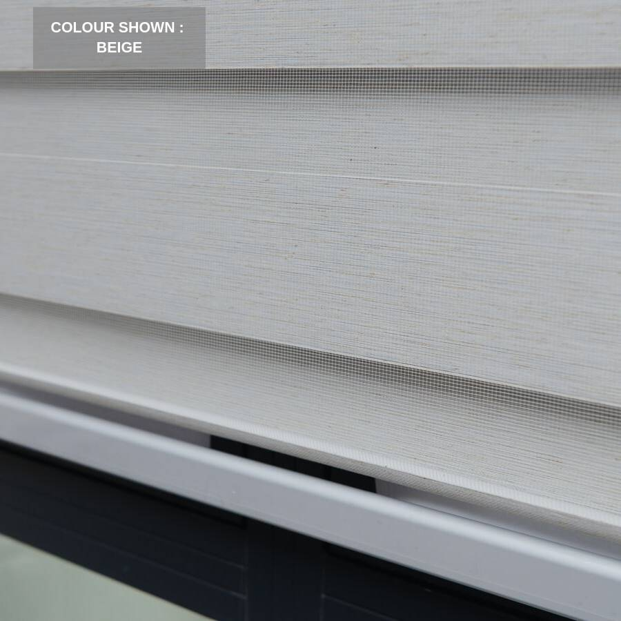 Z-BN02 Beige Beno Blackout Zebra Shades Blinds