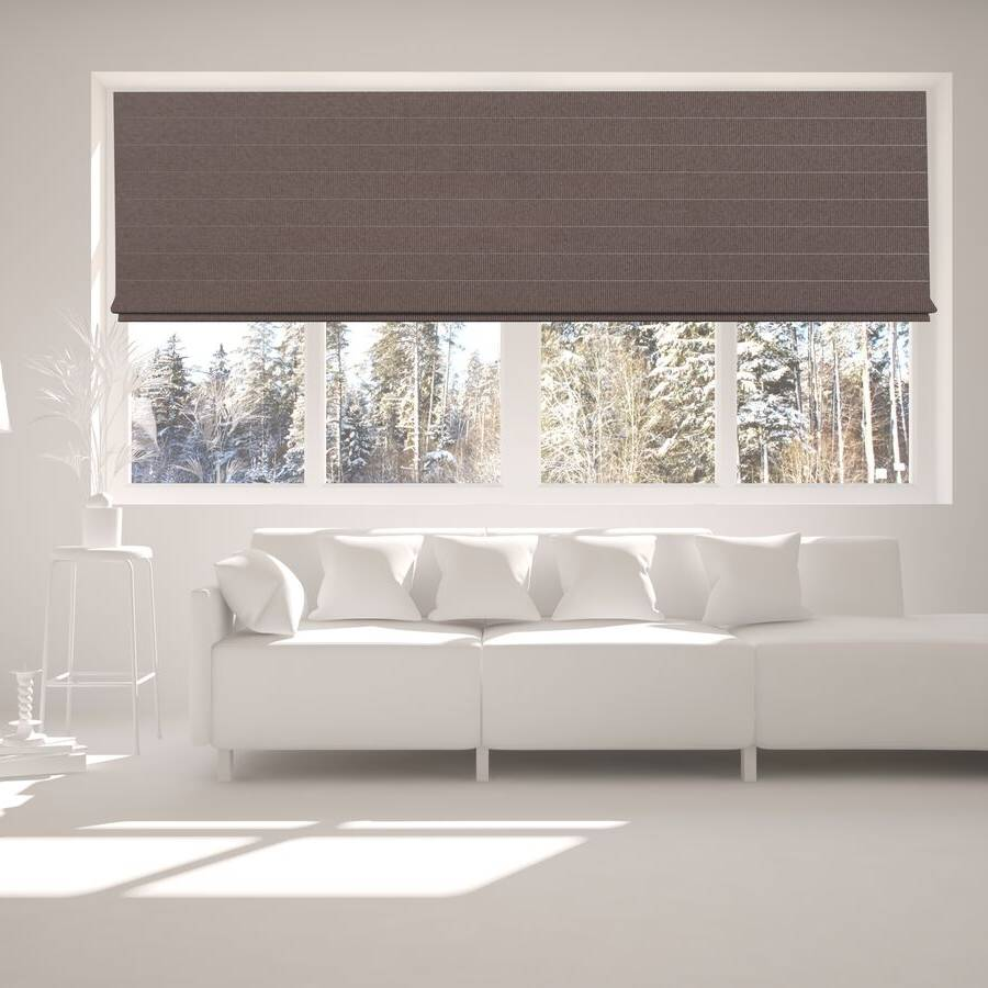 B-CB06 Brown Cuba Classic Fabric Roman Shades Blinds