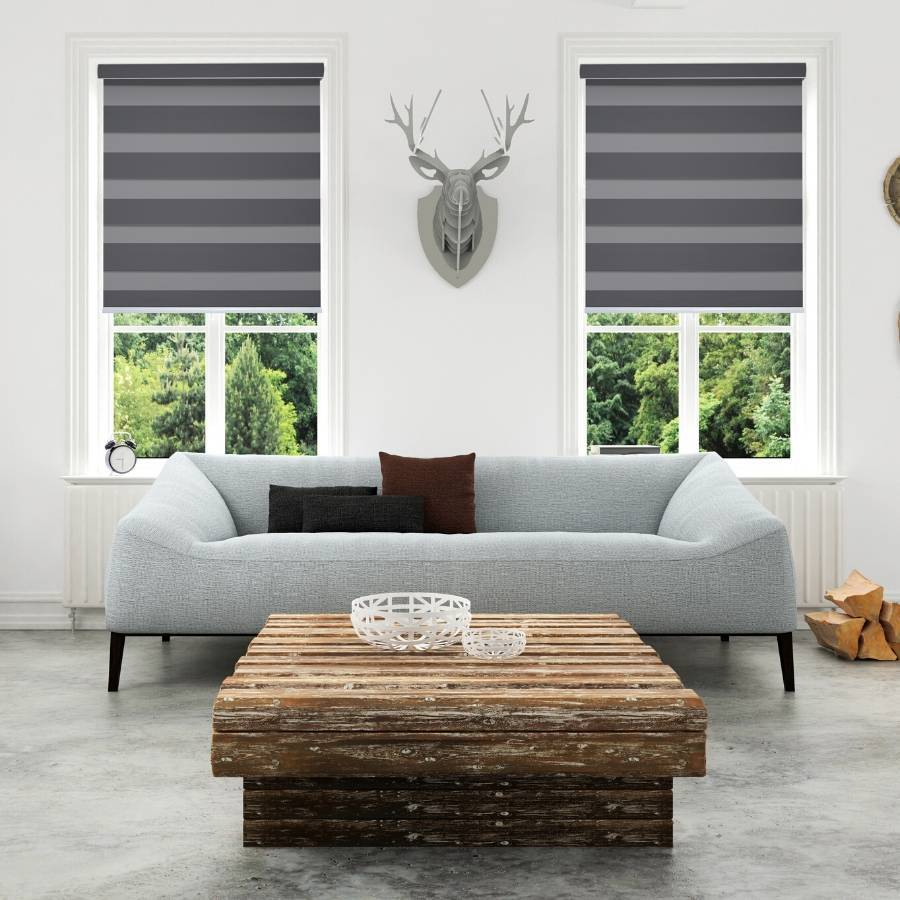 Z-BS04 Elephant Basha Designer Blackout Zebra Shades Blinds