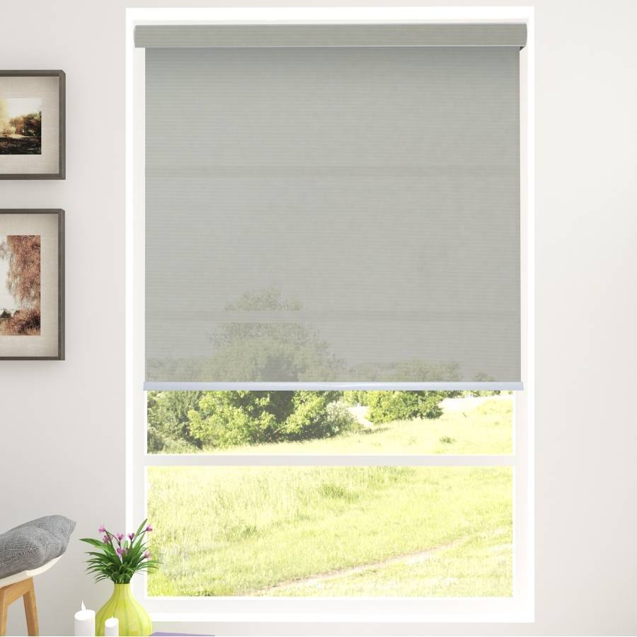 B-SC05 Grey Sacco Light Filtering Roller Shades Blinds