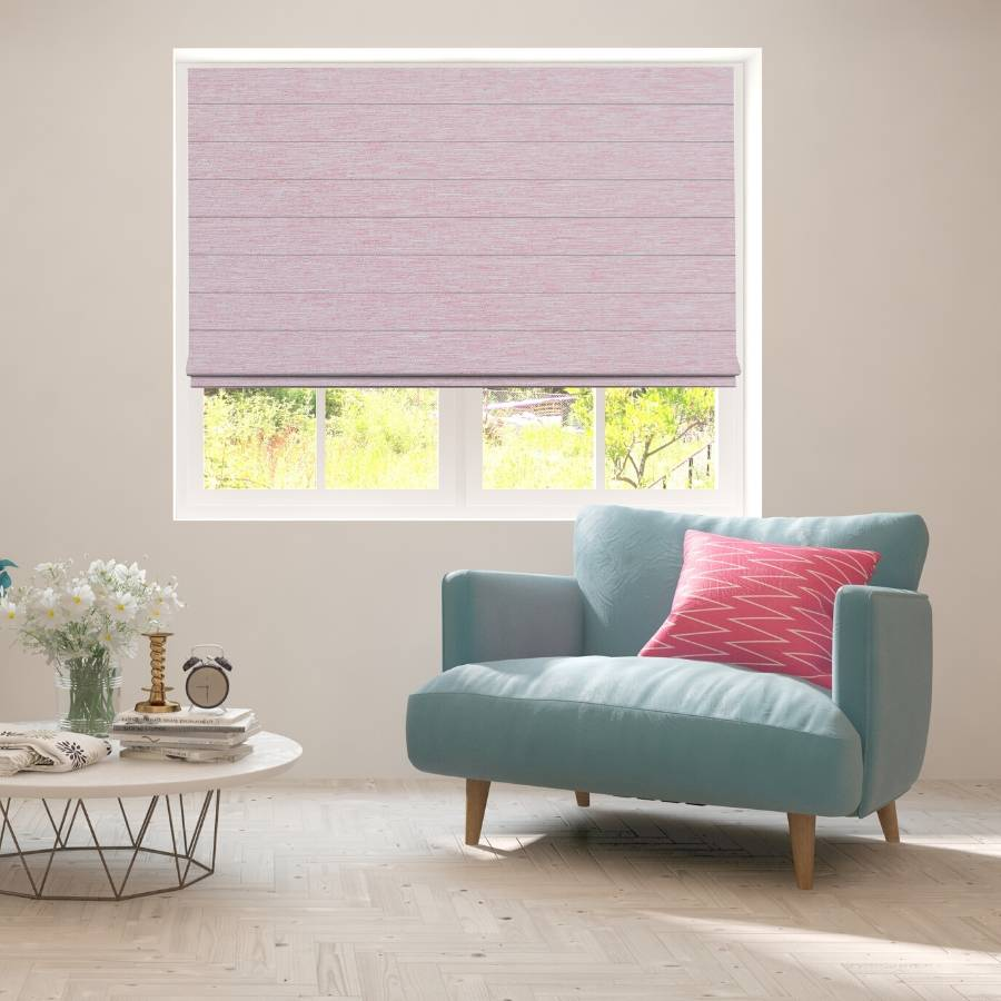 B-CR07 Brown Cara Fabric Roman Shades