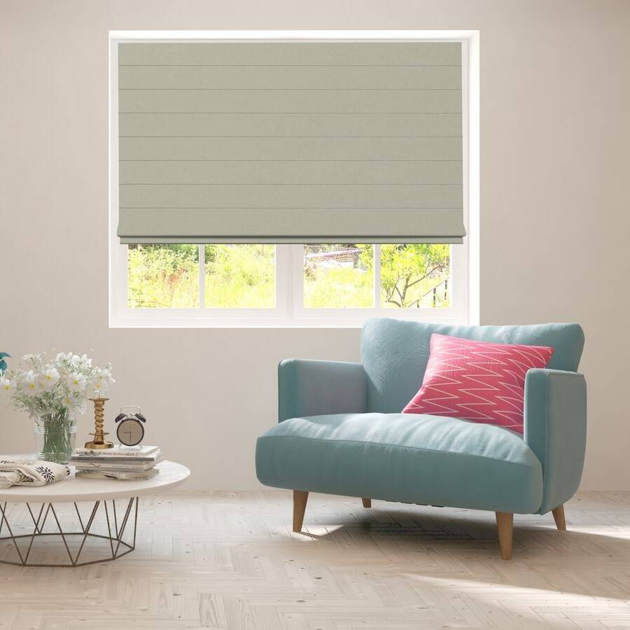 B-CB05 Green Cuba Classic Fabric Roman Shades Blinds