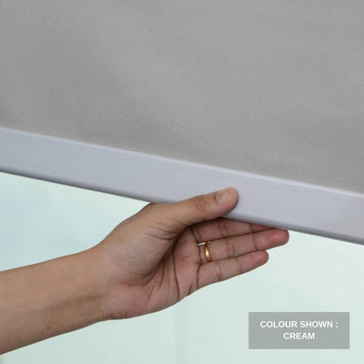 B-CB01 Cream Cuba Classic Fabric Roller Shades Blinds