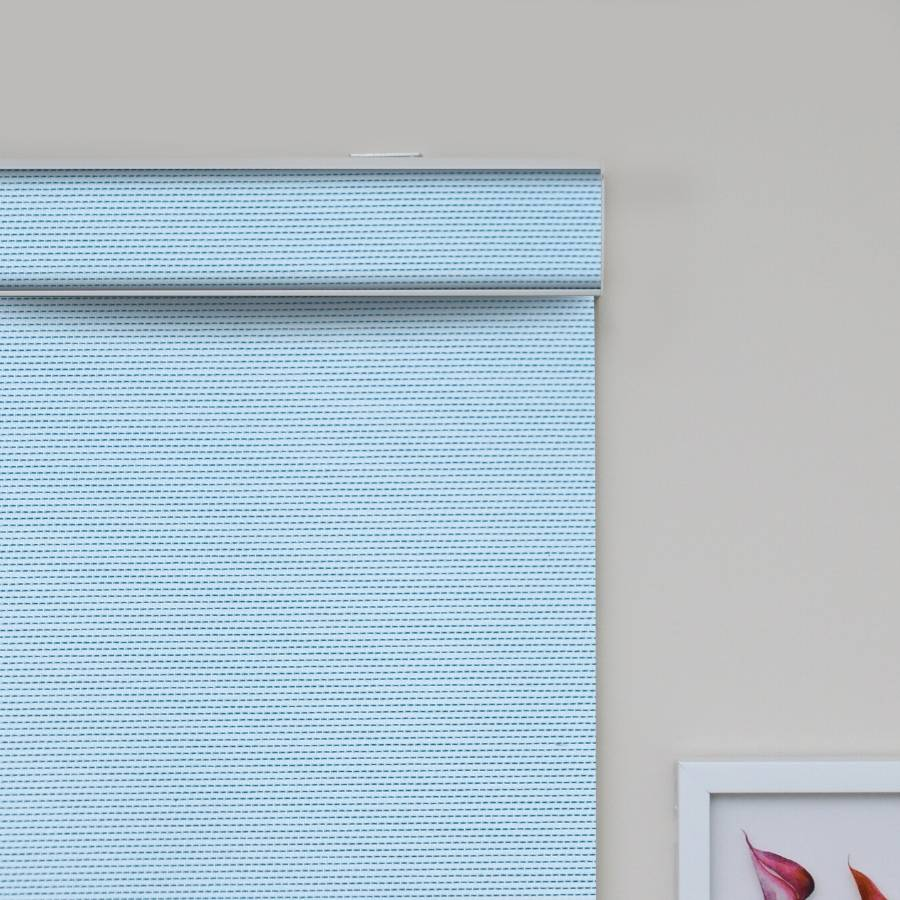 B-SC01 Blue Sacco Light Filtering Roller Shades Blinds
