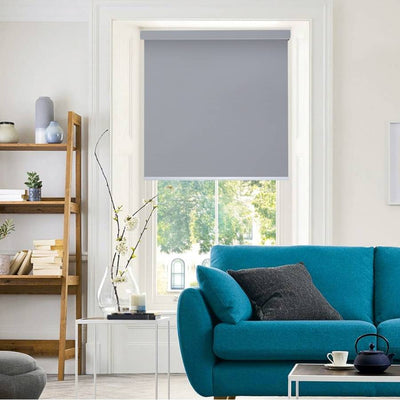 B-BW05 Grey Blackwell Vinyl Waterproof Blackout Roller Blinds