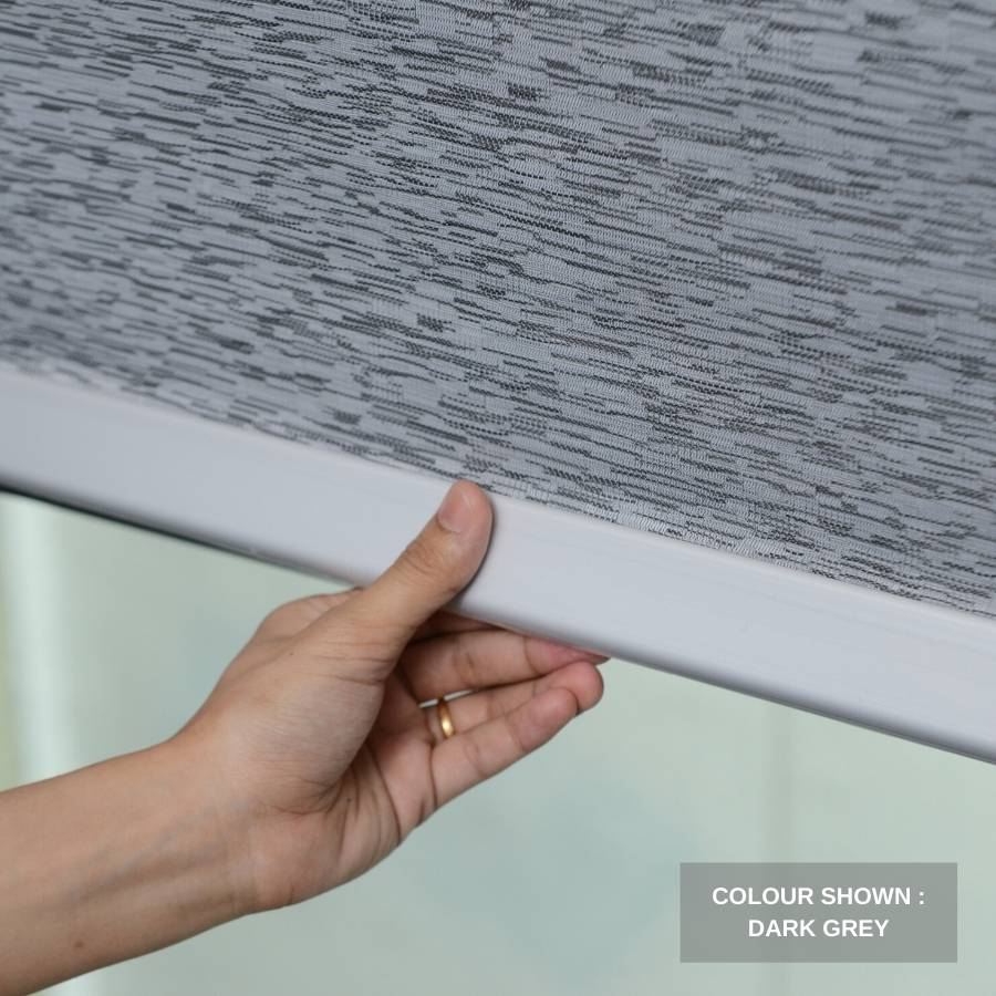 B-SM06 Dark Grey Somas Designer Elements Blackout Roller Blinds