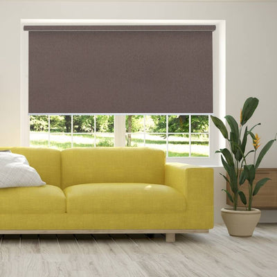 B-CB06 Brown Cuba Classic Fabric Roller Shades Blinds