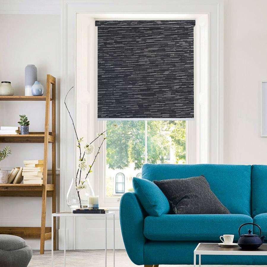 B-SM07 Black Somas Designer Elements Blackout Roller Blinds