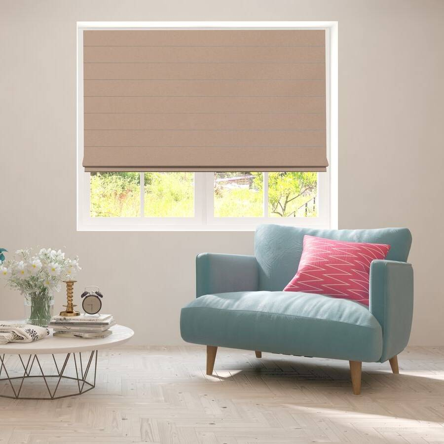 B-CB04 Orange Cuba Classic Fabric Roman Shades Blinds