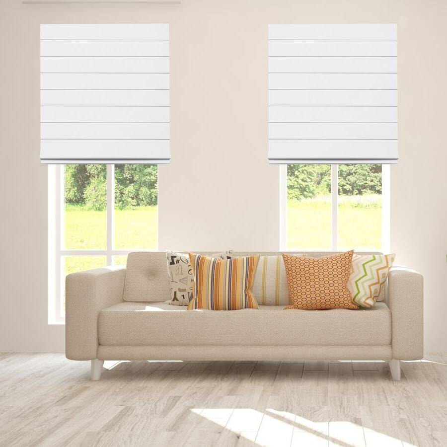 B-BJ04 White Bojan Blackout Roman Shades Blinds