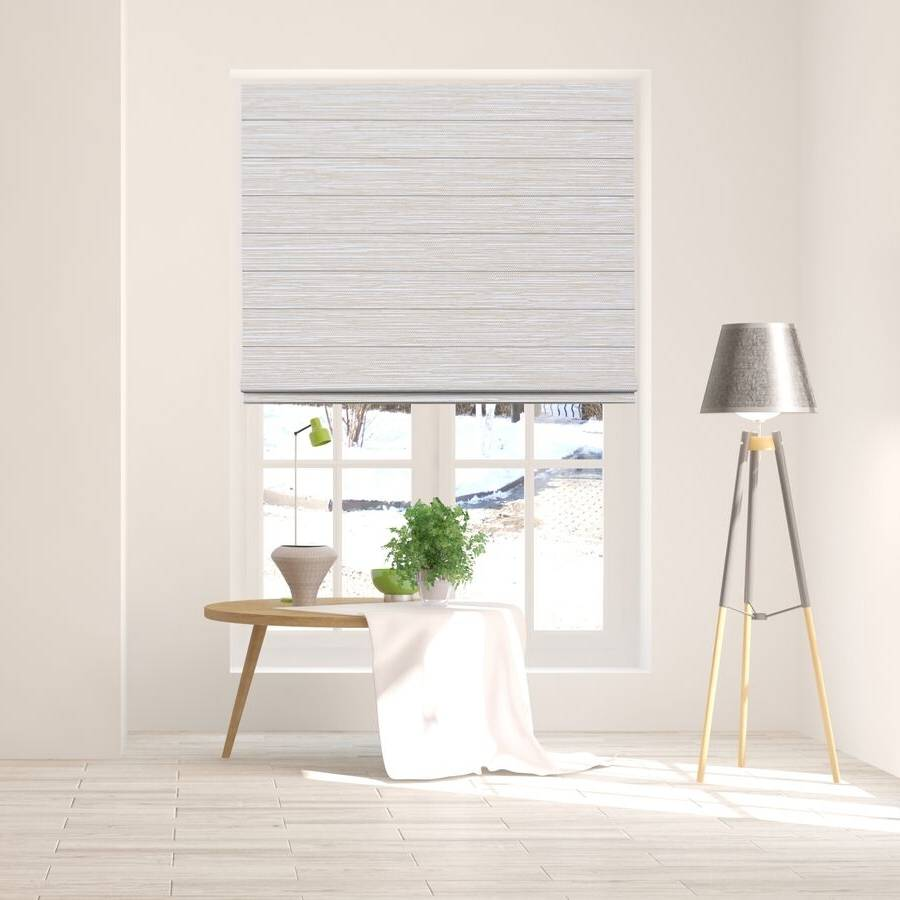 B-BB02 BEIGE Bixby Premium Blackout Roman Shades Blinds