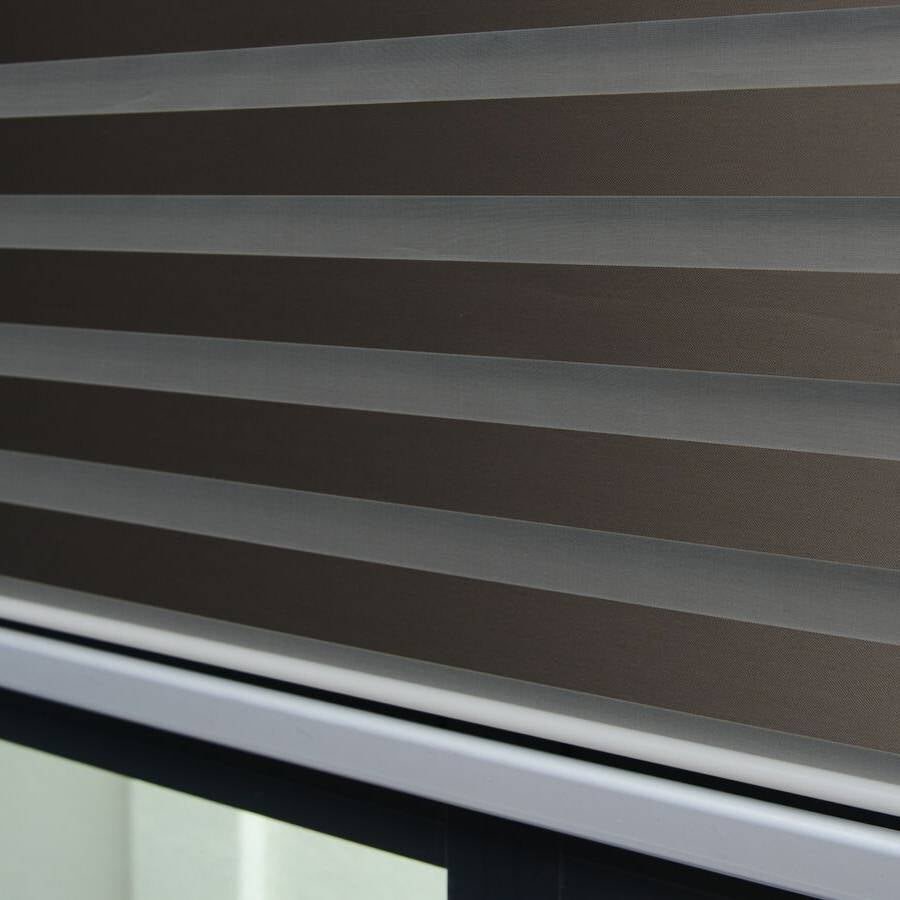 Z-BJ05 Mocha Bijou Premium Blackout Zebra Shades Blinds