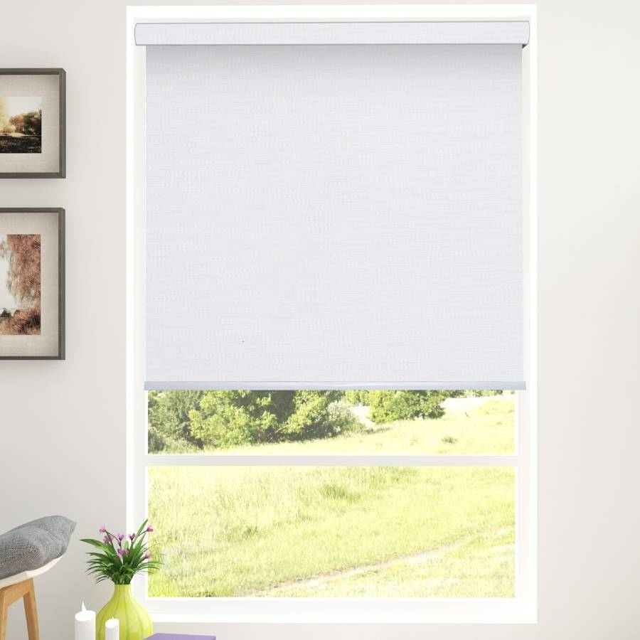 B-SM01 - White Somas Designer Elements Blackout Roller Blinds